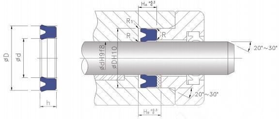 UNS轴孔通用密封工作图